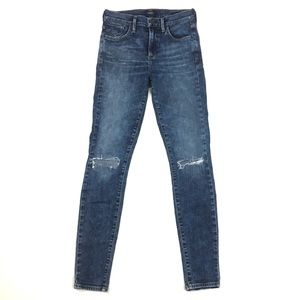 AGOLDE Sophie skinny jeans high rise distressed